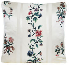 Floral Cushion Cover Pierre Frey Fabric Eugenia Printed Green White Silk 14x14""