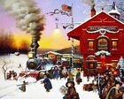 """Charles Wysocki WHISTLE STOP Print S/N With Certificate Image Size 18"""" x14 1/2"""""""