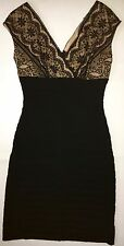 WOMEN'S SIZE 4, BLACK, LACE, STRETCH DRESS BY ADRIANNA PAPELL, BRAND NEW!