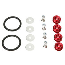 Red Quick Release Fasteners For Car Bumpers Trunk Fender Hatch Lids Kit for JDM