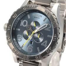 New NIXON Watch 51-30 CHRONO Gunmetal Aqua Silver A0832304  A083-2304