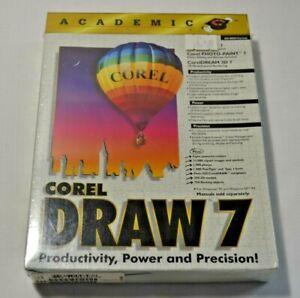 COREL DRAW 7  PC New / Sealed Academic Edition Windows 95 / NT CD Rom 1997