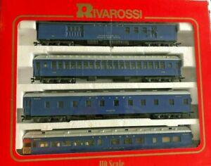 Rivarossi 6885 WABASH 1920s Era 4 Heavy Weight Passenger Car SET B w/Interiors