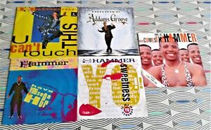 """5  X MC Hammer 7"""" Singles. All Picture Sleeves. 4 Vinyl Excellent  1 VG"""