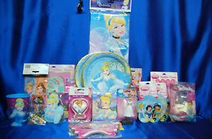 Cinderella Party #18 Cinderella Tablecloth PLates Napkins Candle Invite Favors