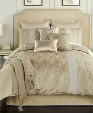 Hallmart Collectibles Bedding Alanis 8-Pc QUEEN Comforter Set Taupe $300 NWOP