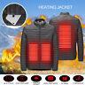 USB Gilet Chauffage Veste chauffante Manteau Vêtements Hiver Hommes Thermique