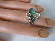 Bijou Jeunesse Günthner Pforzheim Edelstein Opal 925 Silber Ring RG 51