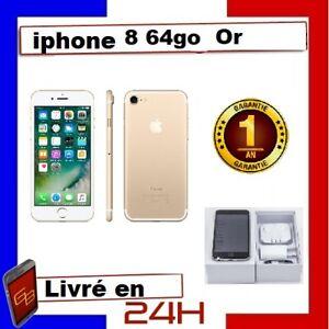 IPHONE 8 64 GO OR GOLD Reconditionné DÉBLOQUÉ TOUT OPÉRATEUR  TÉLÉPHONE 64 GIGA