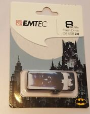 EMTEC Dark Knight BATMAN USB Flash Drive-8GB-2.0-Brand New-DC COMICS-Blk & White