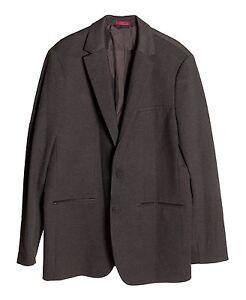 Alfani Men's Size LT Big Tall Black Ice Heather Flat Pockets 2 Button Blazer NEW