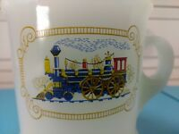 Train, Steam Engine Locomotive,  White Coffee/Tea  Mug 9 oz Cup, Avon
