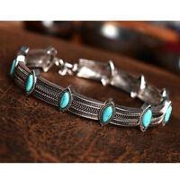 Retro Ethnic Style Collar Choker Statement Bohemian Turquoise Necklace Jewelry