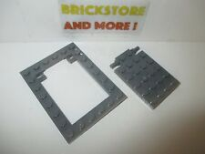 Lego - Plate Modified 6X8 Trap Door Frame 92099 & 92107 Dark Gray/Grau/Gris