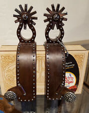 Tom Balding Spurs - Equestrian Texas Spur - Mens Brown with Dots Finish