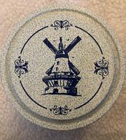 Vintage VALLEYBROOK FARMS Dainty Danish Cookie Windmill Tin