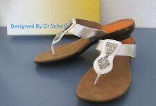 Dr.Scholl -- Damensandale -- Zehentrenner -- echt Leder -- NEU