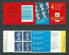 12318-01 1999 Sg Hf1 4 X European Airmail Stamps Booklet Walsall Cylinder W1