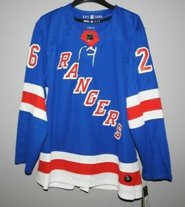 Authentic Adidas NHL New York Rangers #26 Hockey Jersey New Mens 46 (S) $190