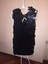 D&G PERFECT LITTLE BLACK COCKTAIL SEQUIN BOLD DRESS!!! VINTAGE-DISCO-RETRO-COOL!