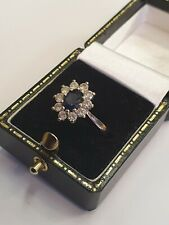 Beautiful 18ct white gold sapphire rand diamond ring! Wow!!!!!! Show stopper!