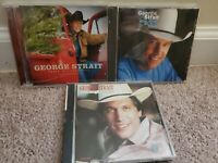 Lot of 3 George Strait CDs: Fresh Cut Christmas, One Step at a Time, Right or Wr
