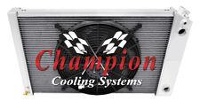 "3 Row Perf Champion Radiator 26"",16"" Fan,1 1/2,1 1/2-1978-1987 El Camino LS Swap"