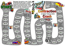 CONTRACTION CRASH GAME Educational Teacher Resource