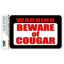 Warning Beware of Cougar SLAP-STICKZ™ Car Window Locker Bumper Sticker