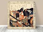 """Stunning Classic Asian Art ~ Kuniyoshi Danjuro Kabuki~ CANVAS PRINT 12x12"""""""