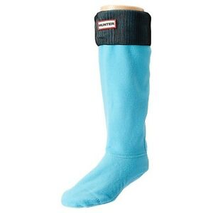 HUNTER ORIGINAL Tall BOOT SOCKS Sky Blue / Black ( M ) US 5-7