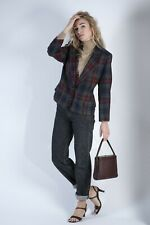 Austin Reed Women's Plaid Cashmere and Wool Blend Blazer, US 12