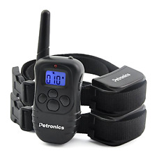 Petronics Shock Collar with Remote Electronic Dog Training Collar 330 Yards 2pc