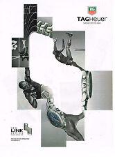 PUBLICITE ADVERTISING 045  2000  TAG HEUER  montre série LINK