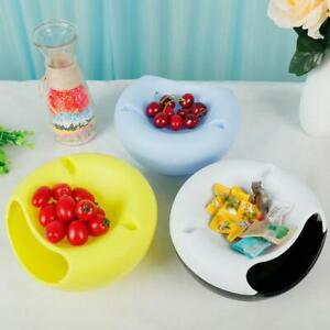 Plastic Nut Melon Peels Shells Storage Lazy Fruit Dish Bowl portable Snack