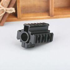 Tri Rails 20mm Picatinny Weaver Rail Laser Scope Mount For 12 Gauge Barrel Rifle