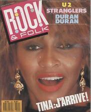 Rock & Folk  N°240  Avril 1987:Tina turner U2 Stranglers Duran duran