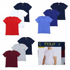 Polo RALPH LAUREN cuello redondo para hombre Paquete de 3 camisetas Pony Logo Tshirts nuevo PRL