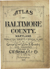 1915 G.W. BROMLEY, BALTIMORE, MARYLAND, TITLE PAGE COPY PLAT ATLAS MAP