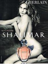 PUBLICITE ADVERTISING 035  2011  GUERLAIN  par NATALIA VODIANOVA parfum SHALIMAR