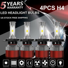 2Pair LED 1800W 270000LM H4 9003 Headlight Kit High Low Beam Bulbs 6000K White