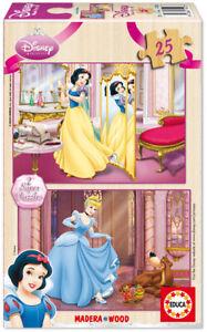Educa Disney Princess 2 x 25 pcs wood jigsaw puzzle 14182 new sealed