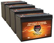 QTY 4 BATTERIES: VMAX MB127 12 Volt 100Ah Group 27 AGM 12V Deep Cycle Battery