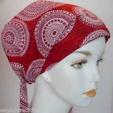 Classic Red Scarf Cancer Hat Turban Chemo Hair Headwrap Bad Hair Day Alopecia