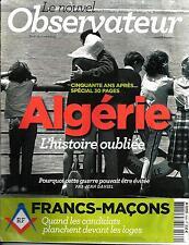 LE NOUVEL OBSERVATEUR n°2469 01/03/2012  Spécial Algérie/ Francs-Maçons/ Poutine