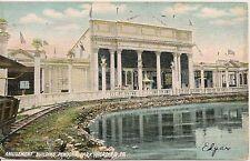 Amusement Building Pendora Park Reading PA Postcard Amusement Park