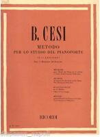 Benjamin Cesi : Verfahren Für Lo Studio Der Klavier Heft 1 ° - Erinnerungen