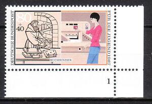 BRD 1987 Mi. Nr. 1318 Postfrisch Eckrand 4 Formnummer 1 TOP!!! (9941)