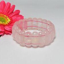 Beau extensible  Bracelet EN Naturelle Quartz Rose