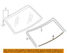 SUBARU OEM 12-15 Impreza Rear Window Glass-Dam 65145FJ020